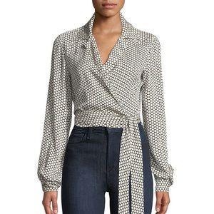 Diane Von Furstenberg Silk Wrap Top 💖